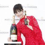 佐々木希が結婚祝い仕様のシャンパンでPR『MOËT PARTY DAY 2017』